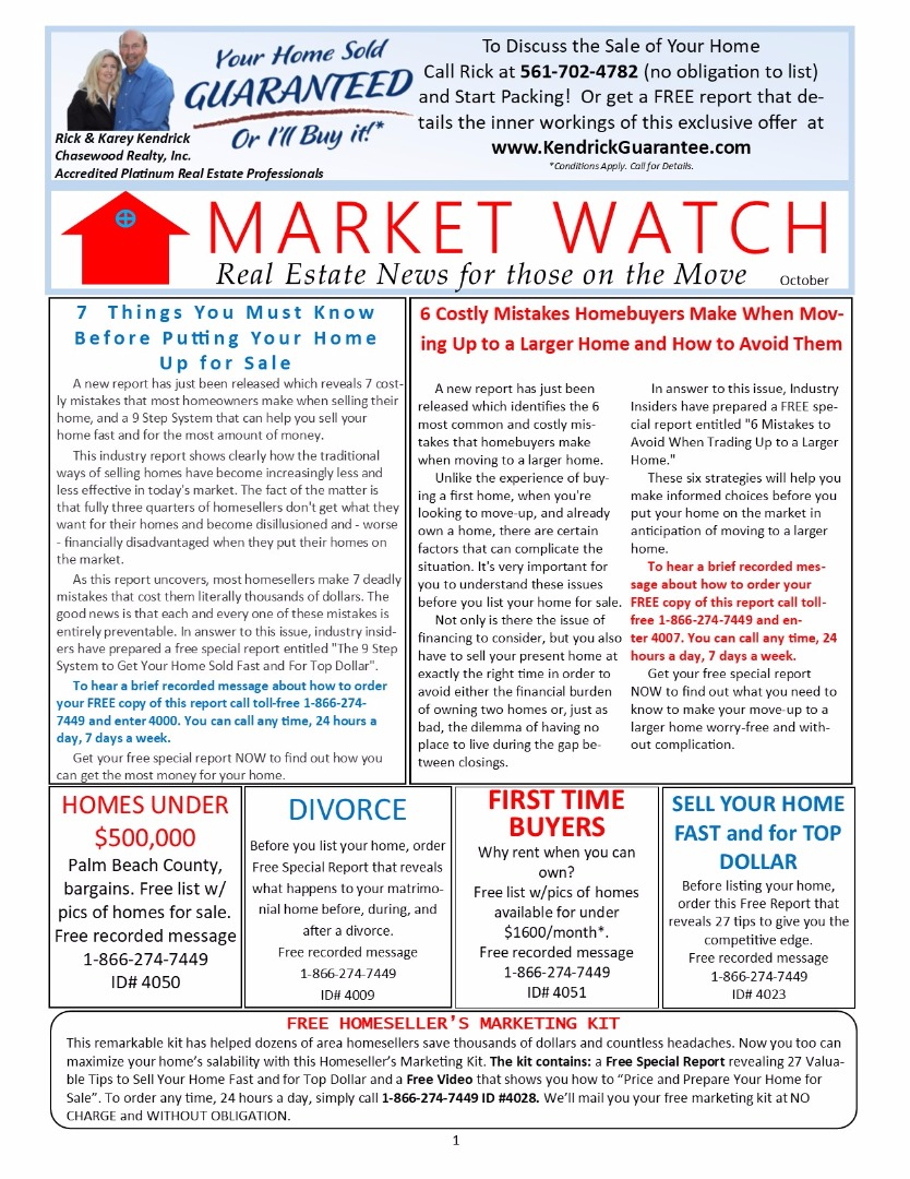 Market Watch Newsletter October 2017