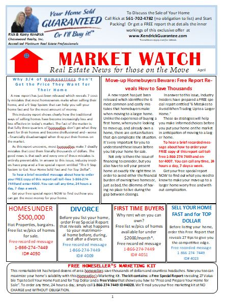 Market Watch Newsletter April 2018 Blog Chasewood Realty