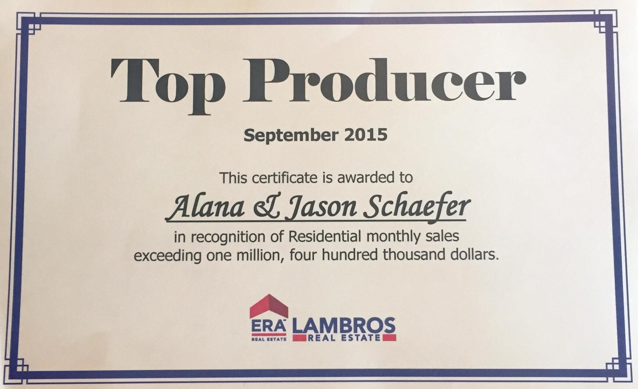 Alana Jason Top Producer Certificate September 2015.jpg