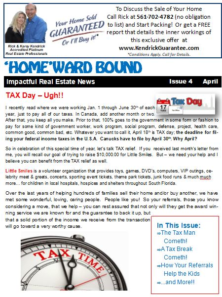 April 2018 HomeWard Bound Newsletter