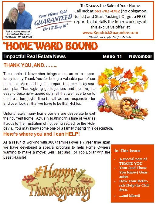 HomeWard Bound Referral Newsletter November 2017