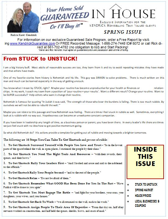 Spring Issue InHouse Newsletter