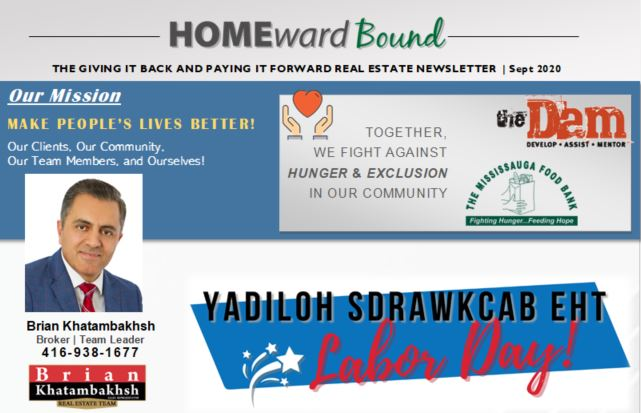 Homeward Bound Newsletter- Sept 2020