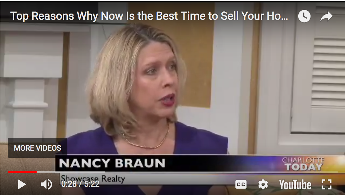 Nancy Braun Advises Charlotte Today Viewers That Now Is The Perfect Time to Sell