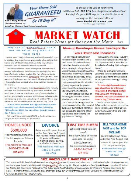April 2019 Rick Kendrick Team Market Watch newsletter