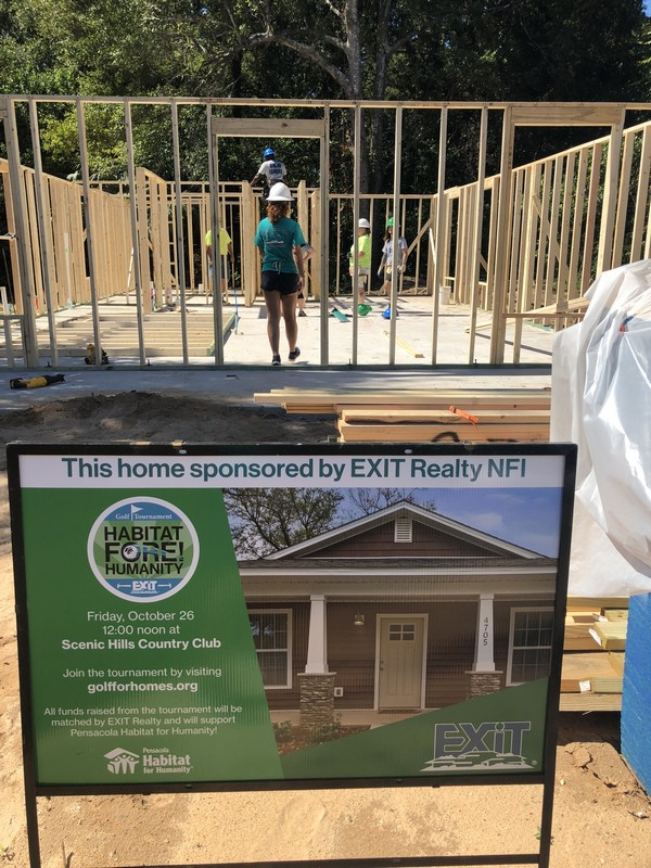 EXIT REALTY N.F.I. AND HABITAT FOR HUMANITY TEAM UP TO BUILD A NEW HOME AND DREAM!!!