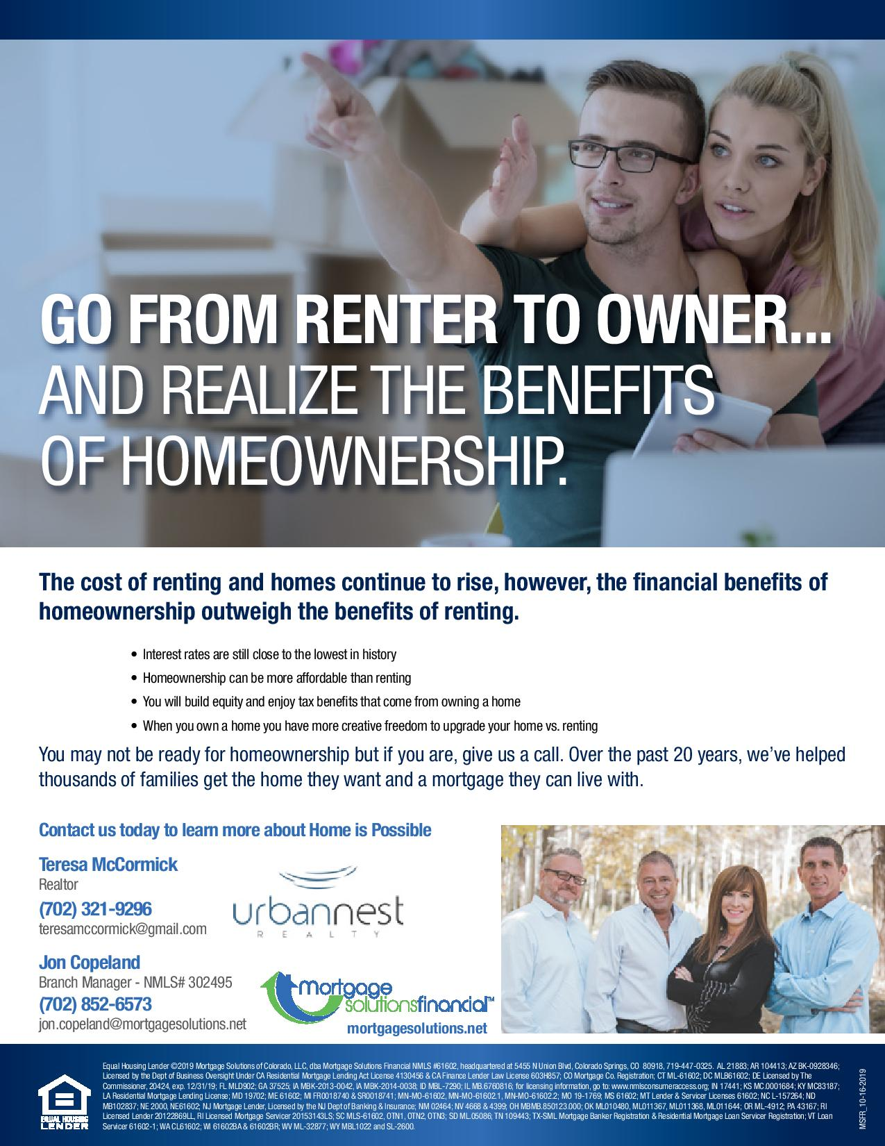 Comparison of Rent vs Own