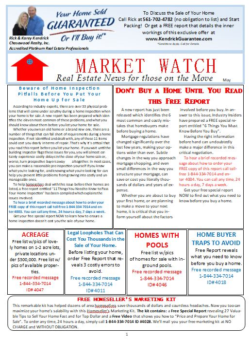May Market Watch Newsletter Rick Kendrick Team