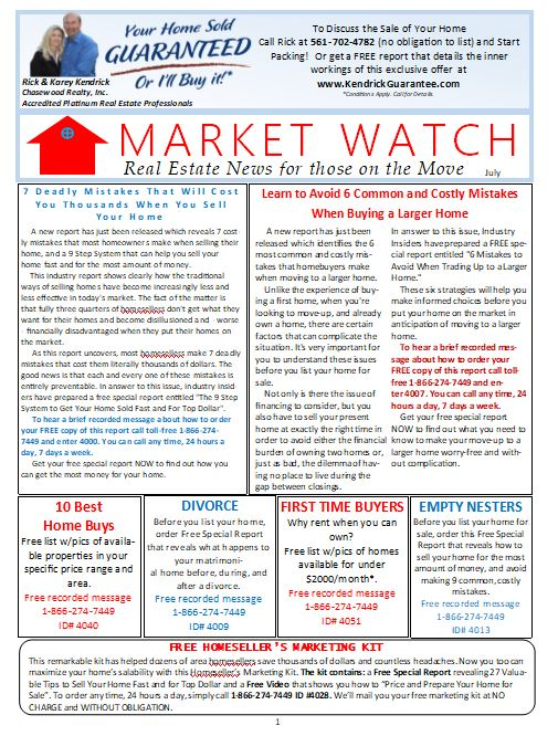 Market Watch Newsletter July 2019