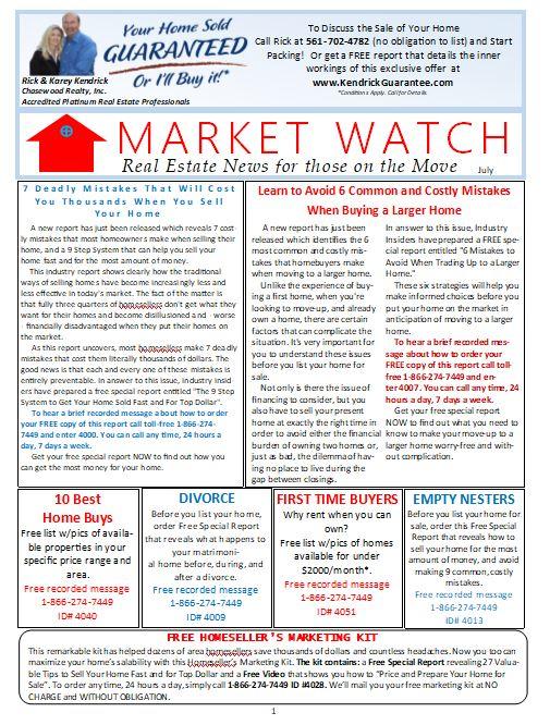 Market Watch Newsletter July 2019