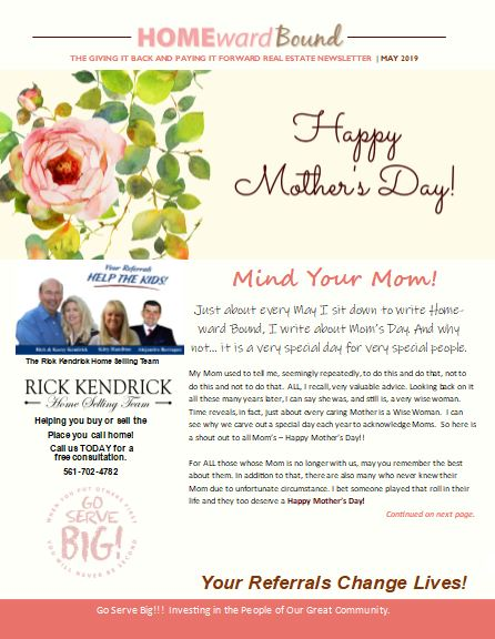 Home Ward Bound Referral Newsletter May 2019 Happy Mother's Day