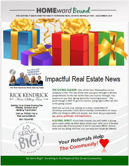 December MarketWatch Newsletter Happy Holidays!