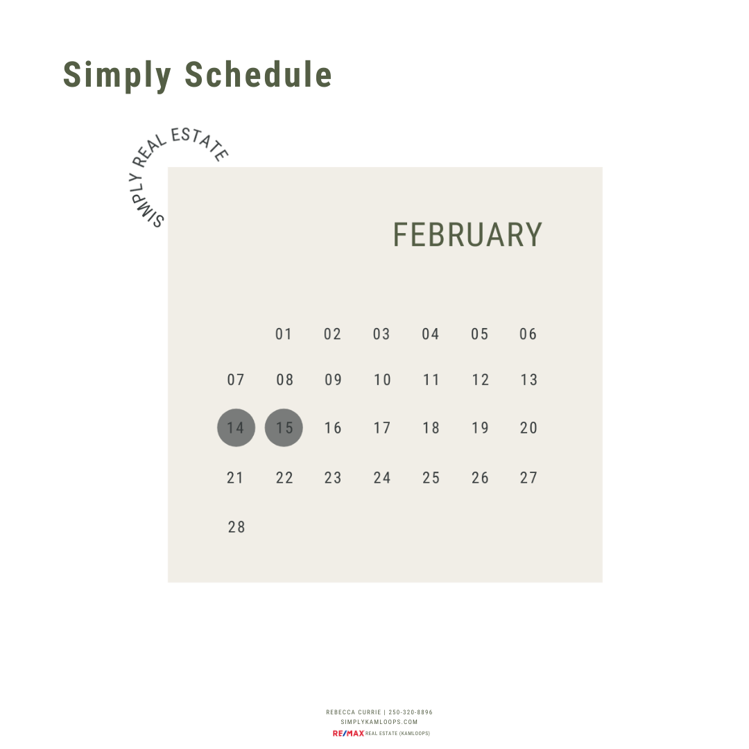 Simply Schedule (and printable) FEBRUARY