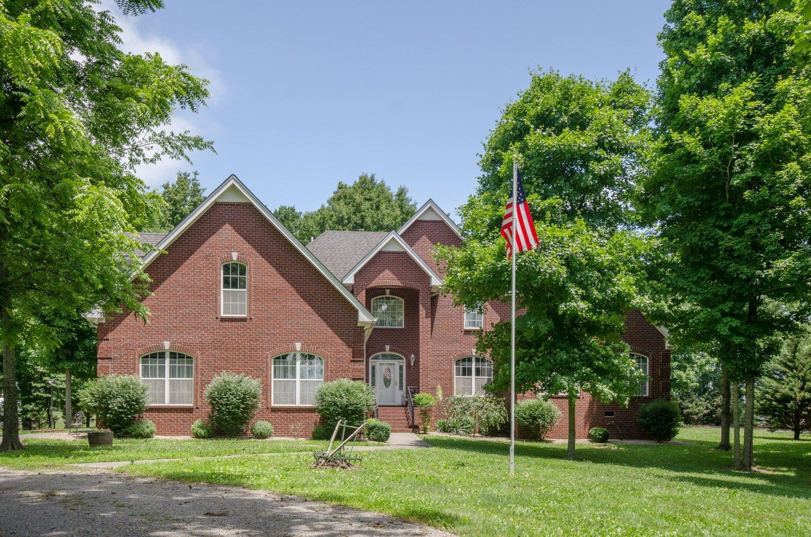 Custom Brick Home On 2.27 Acres With Peaceful Outdoor Living Area!  8330 Guthrie Rd, Cross Plains, TN, 37049