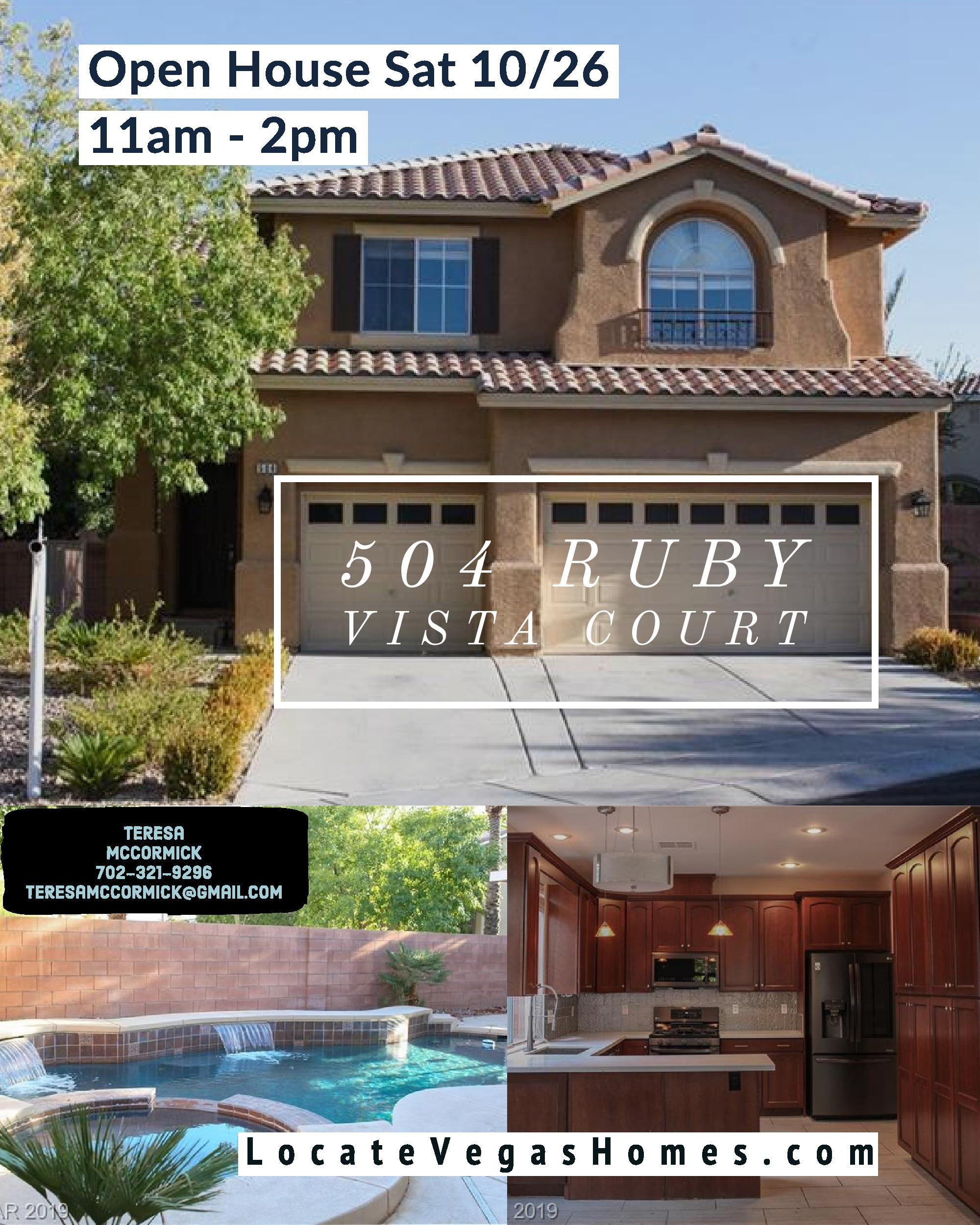 Open House Saturday 10/26/19 11:00am - 2:00pm