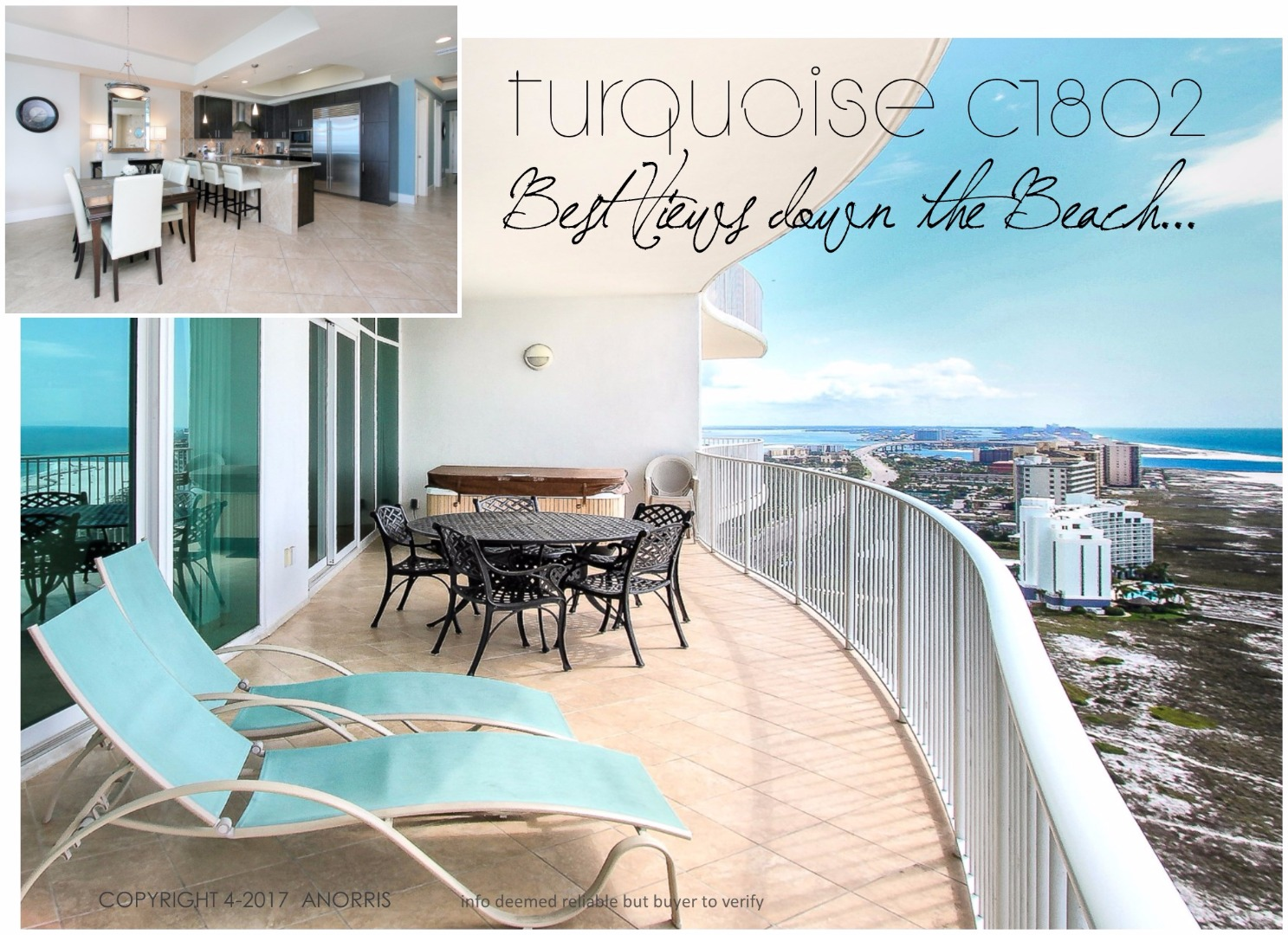 SOLD!    TurquoiseC1802.com  Best Views Down the Beach.. Best Price $50k Under Market Value