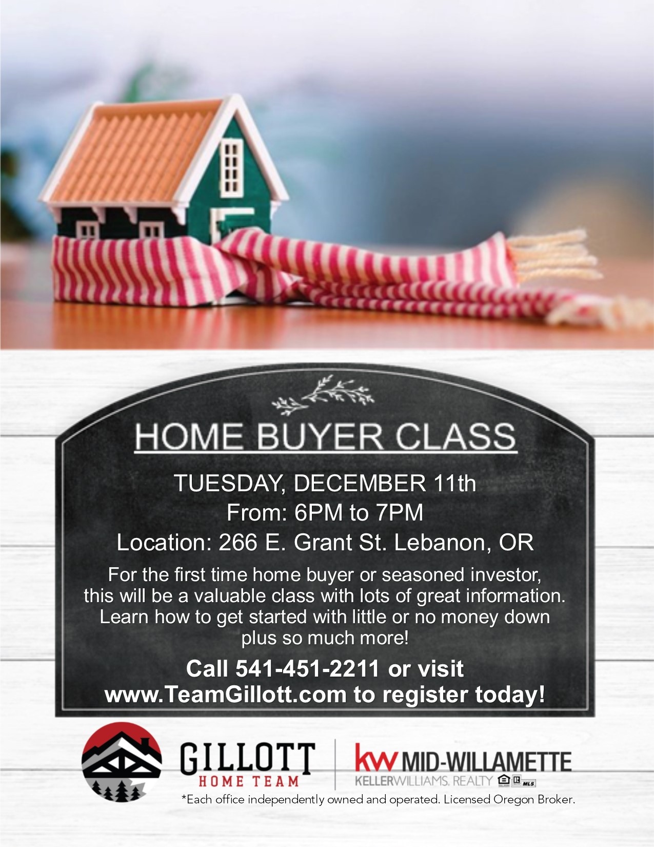 Home Buyer Class View Oregon Real Estate