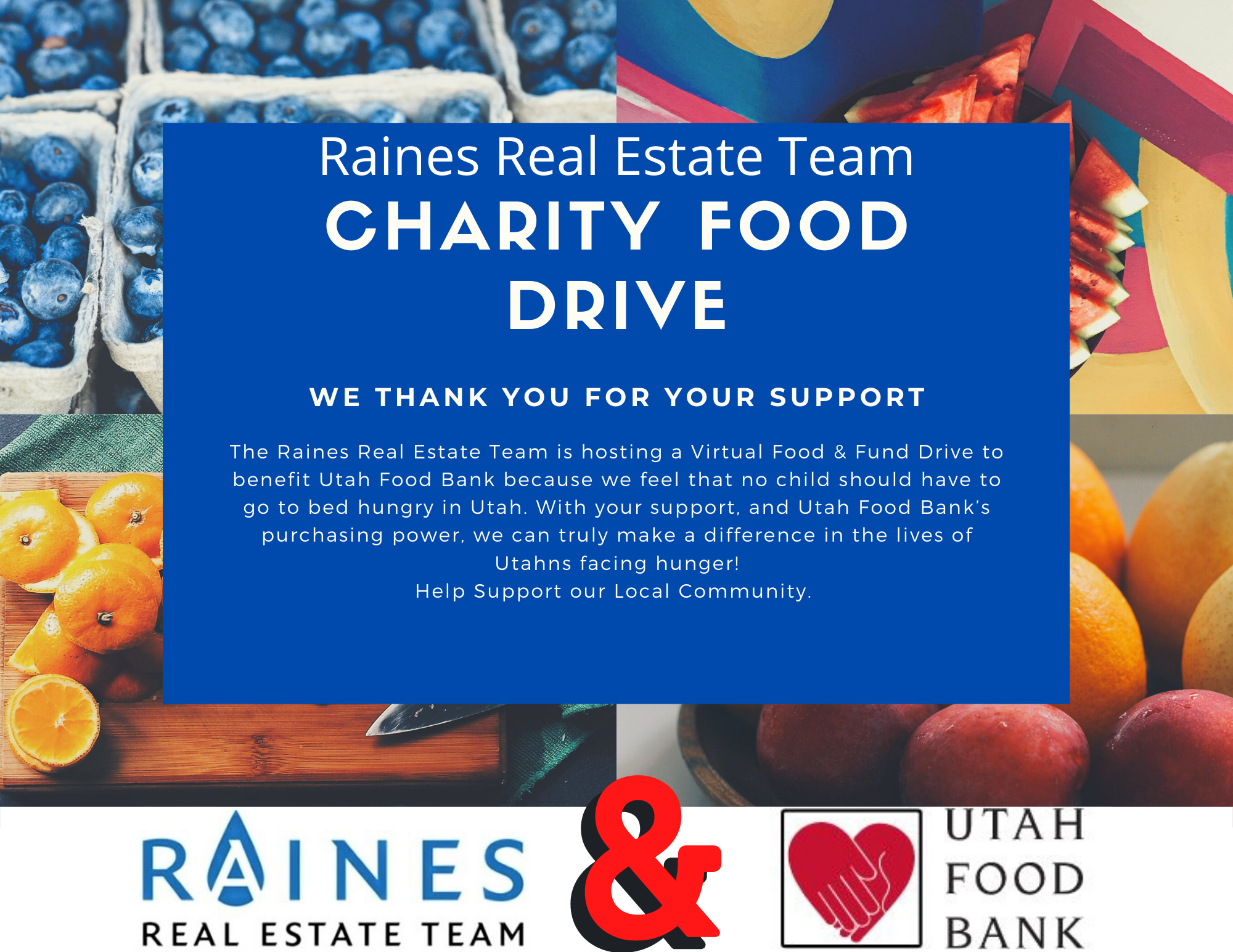 <3 Raines Real Estate Team Utah Food Donation Event! <3