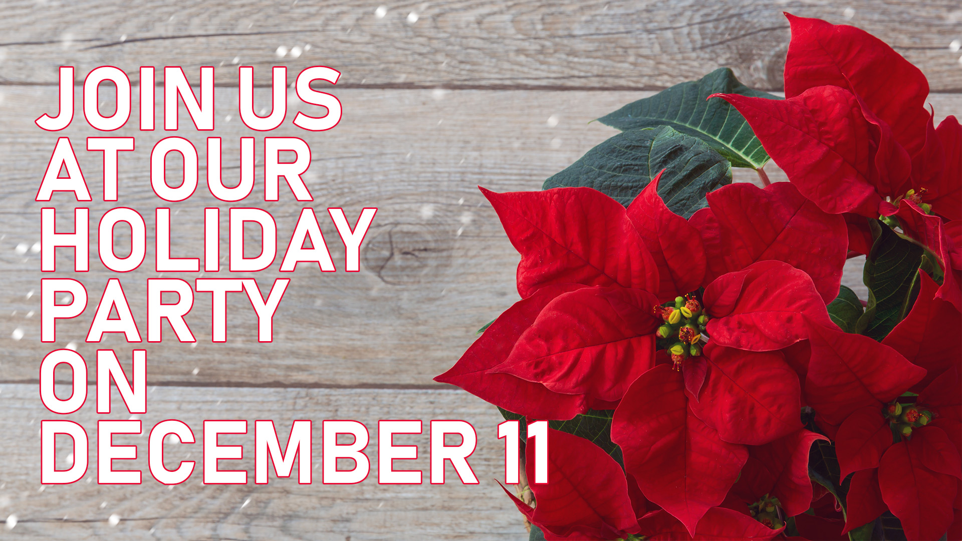 Join Us at Our Holiday Party on December 11