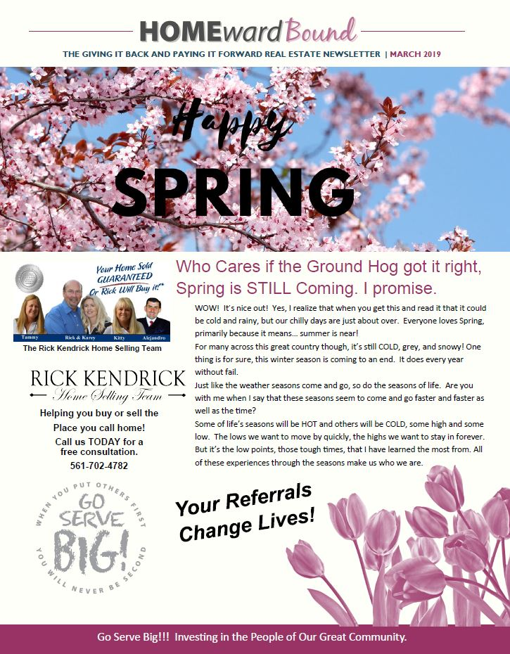 March 2019 Home Ward Bound Referral Newsletter