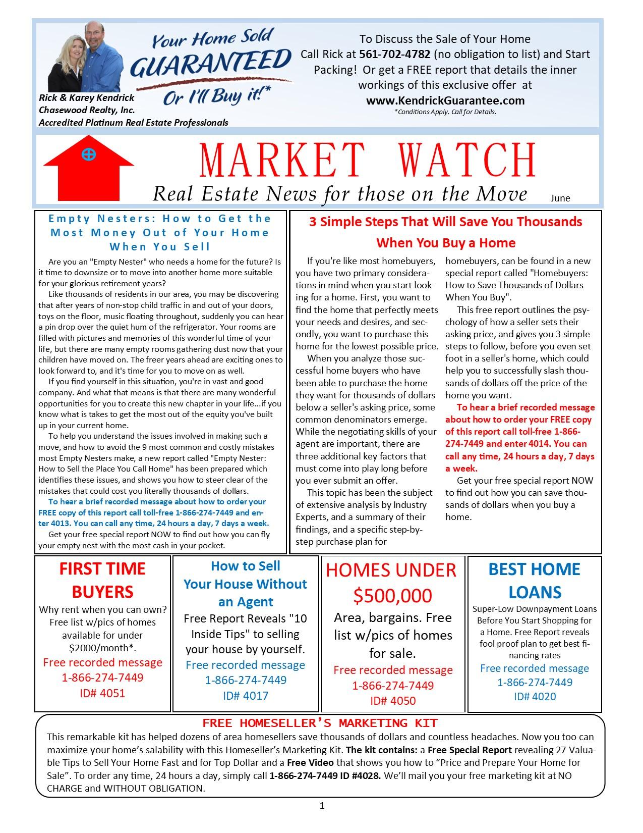 MarketWatch Newsletter June 2021