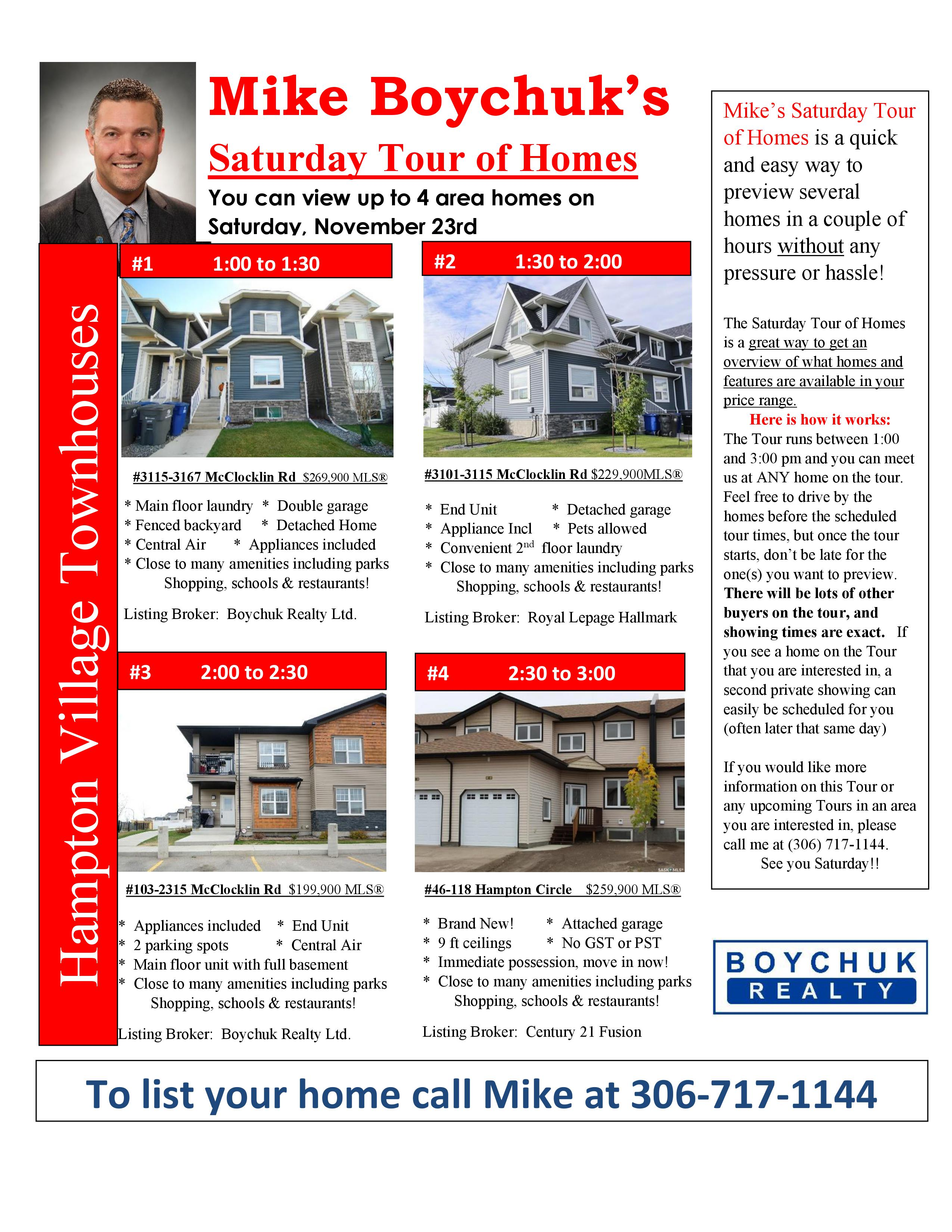 Saturday Tour of Homes