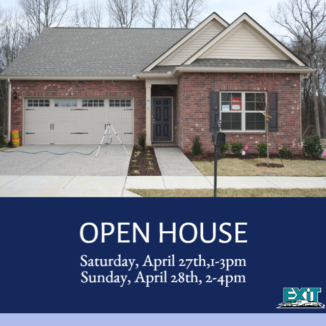 OPEN HOUSE, April  27th & 28th, 112 Bexley Way, White House, TN
