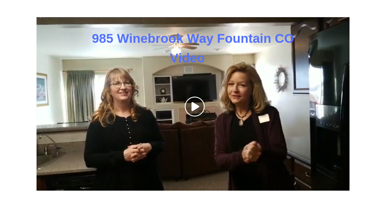 985 Winebook Way Fountain CO Coming Soon Video Tour (2019)