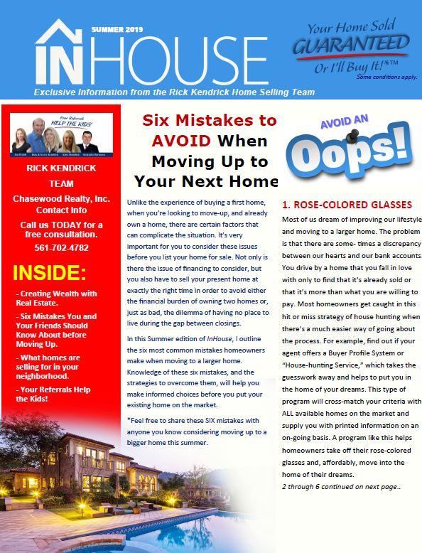 Summer 2019 Quarterly InHouse Newsletter