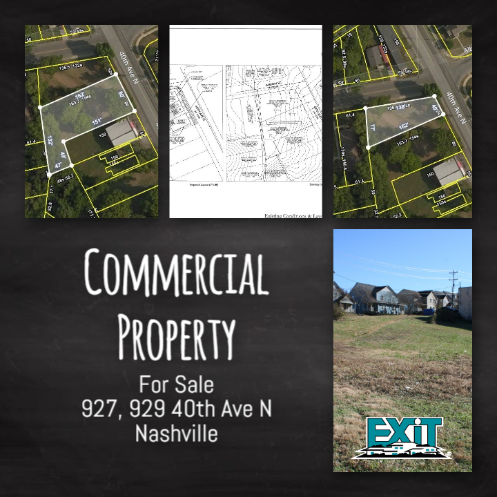 WEST NASHVILLE, 2 Commercial Lots FOR SALE