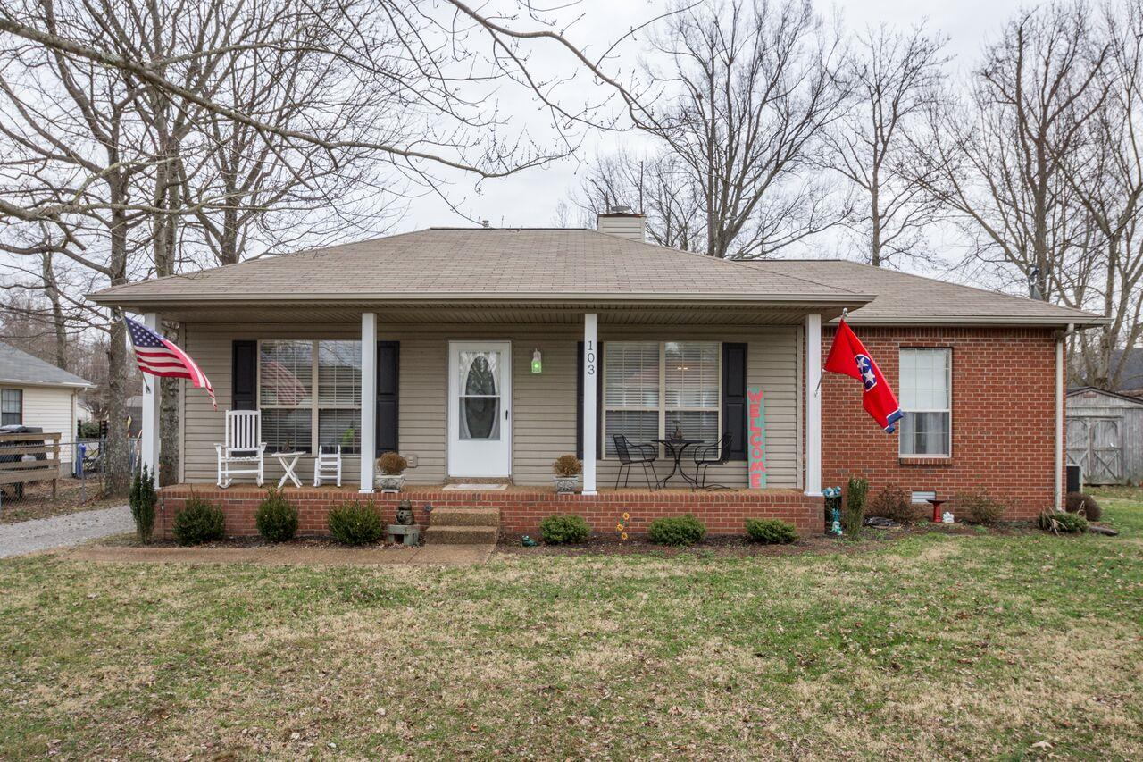 Nice One Level 3 BR/2 BA Home With Level Landscaped Lot Located at 103 Northwoods Dr., White House, TN. 37188