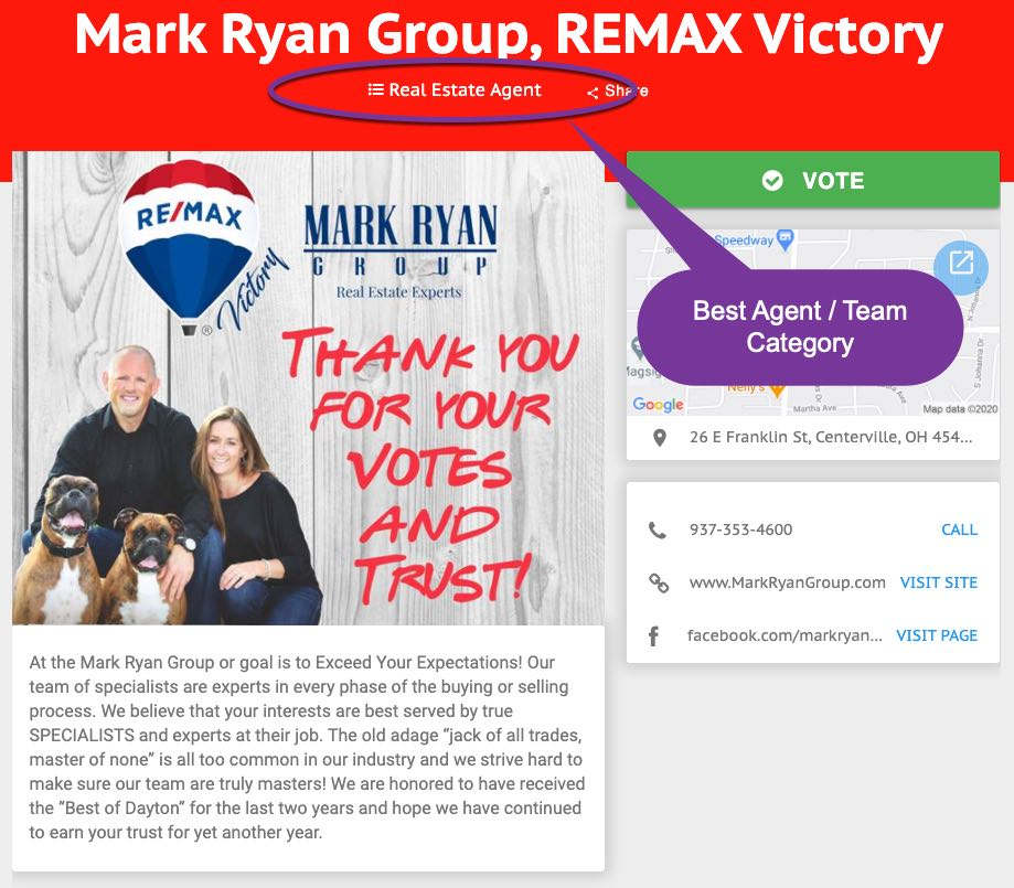 best real estate agent in Dayton - Mark Ryan Group
