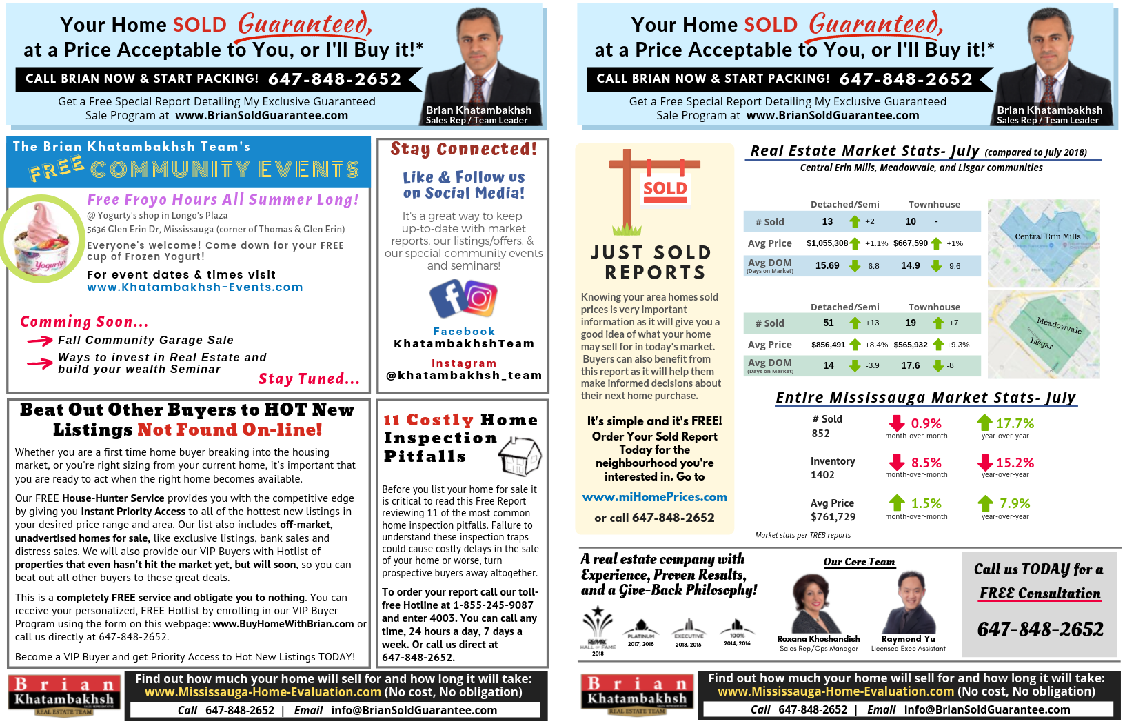 Brian Khatambakhsh Real Estate Team August Newsletter Page 2