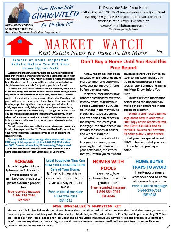 MarketWatch Newsletter May 2021