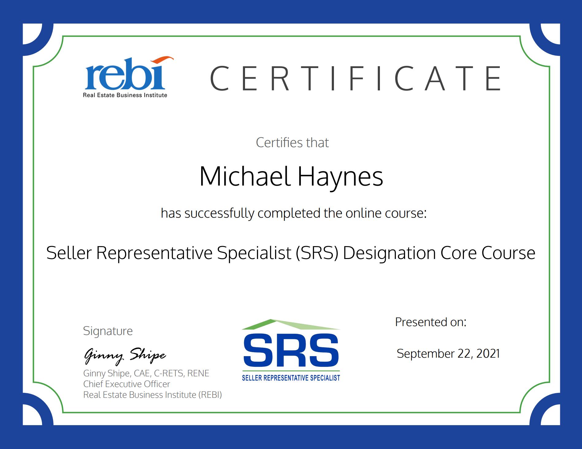 Michael-Haynes-Realtor-SRS-Designation.png
