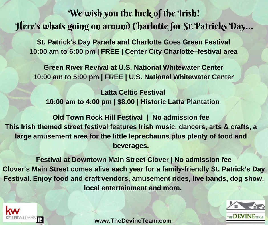 We wish you the luck of the IrishHere's whats going on around Charlotte for St.Patricks Day (1).png