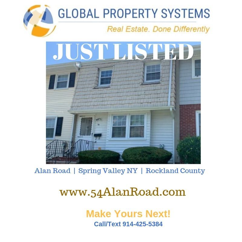 JUST LISTED | 54 Alan Road, Spring Valley NY  | Stylish Townhouse in Country Village Heights