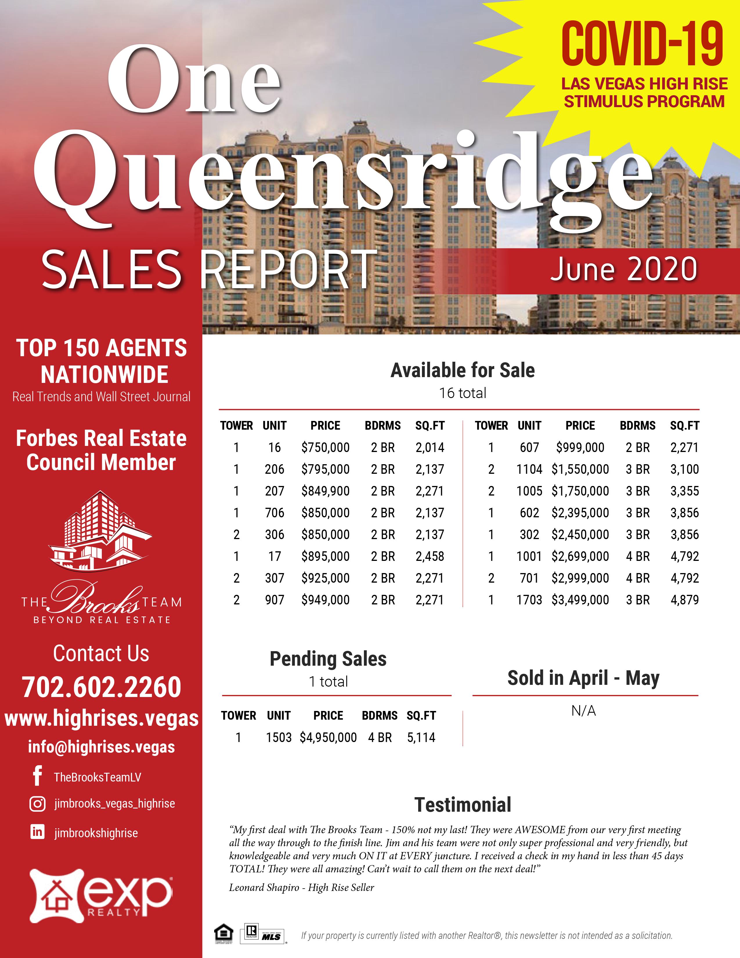One Queensridge E-Newsletter 6-2020.png