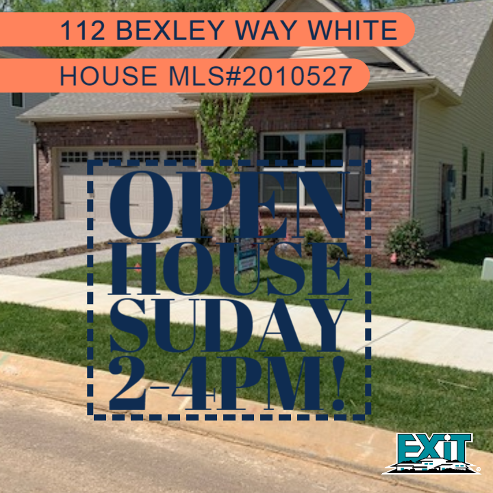 OPEN HOUSE, 112 Bexley Way White House TN, SUNDAY, May 19th 2-4PM