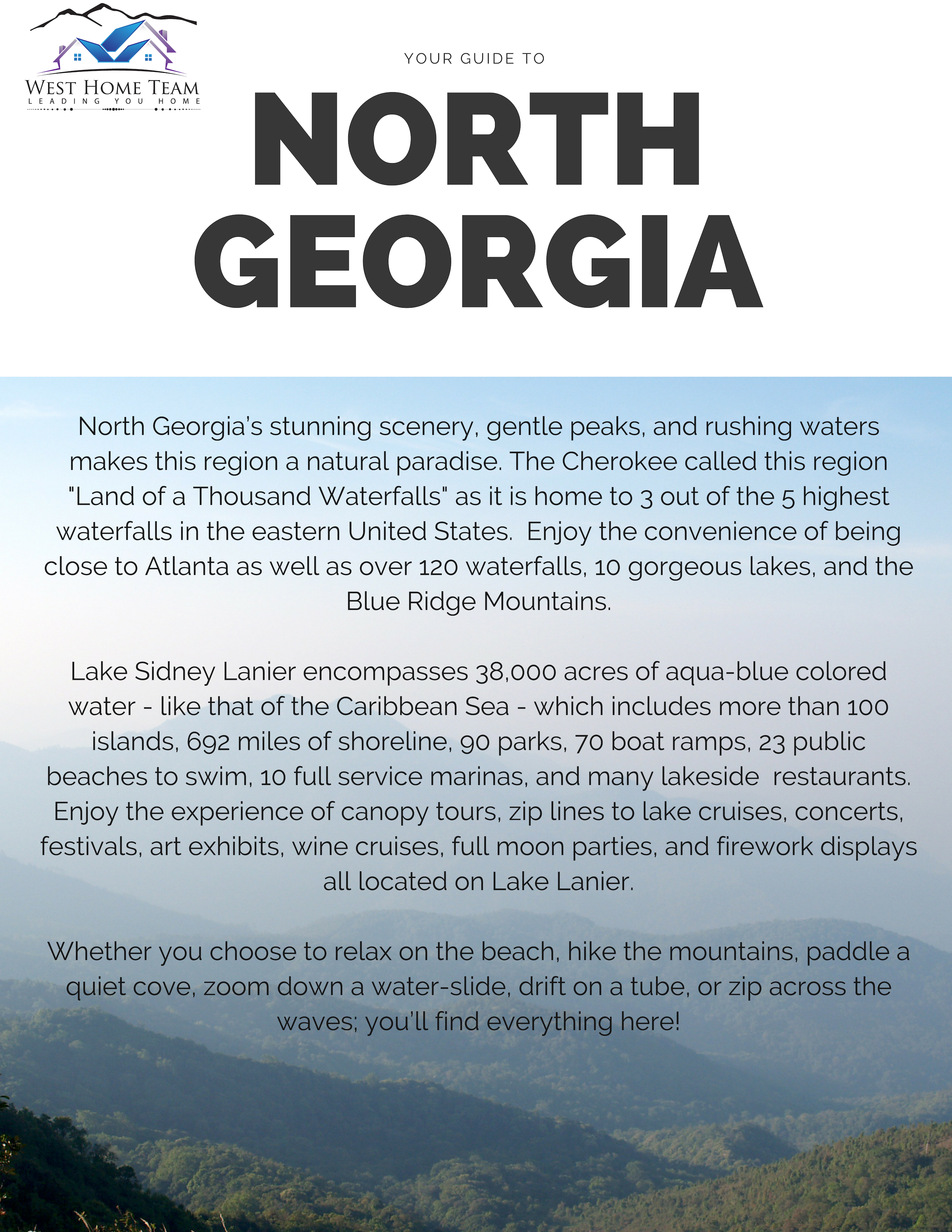 Places To Eat and Things To Do in North GA