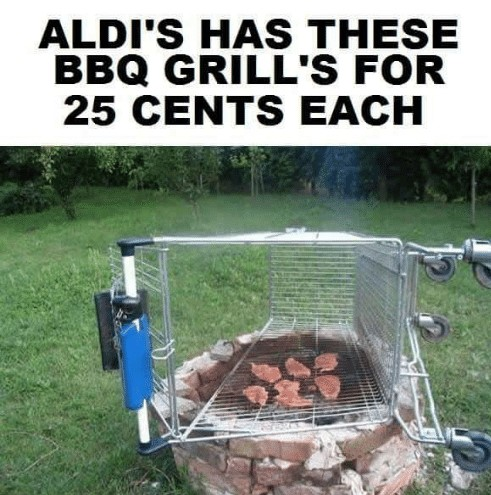 Don't forget your quarter when you hit the Nanuet Aldi store.