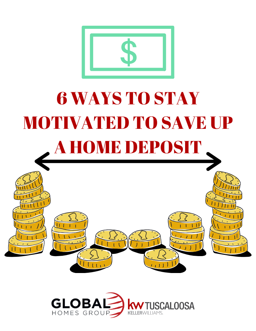 Six Ways to Stay Motivated to Save Up For a Home Deposit!