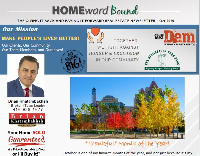 Homeward Bound Newsletter- October 2020