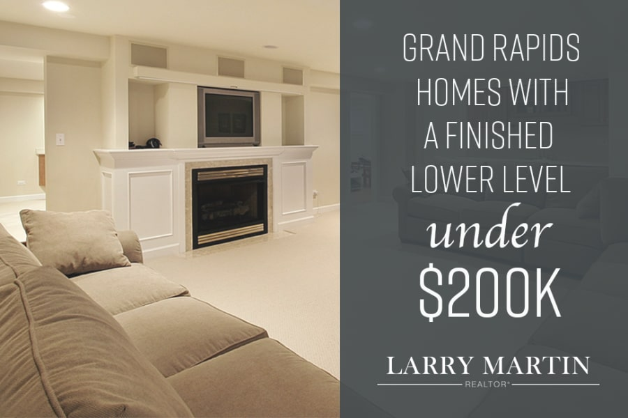 Grand Rapids Homes with a Finished Lower Level under $200K