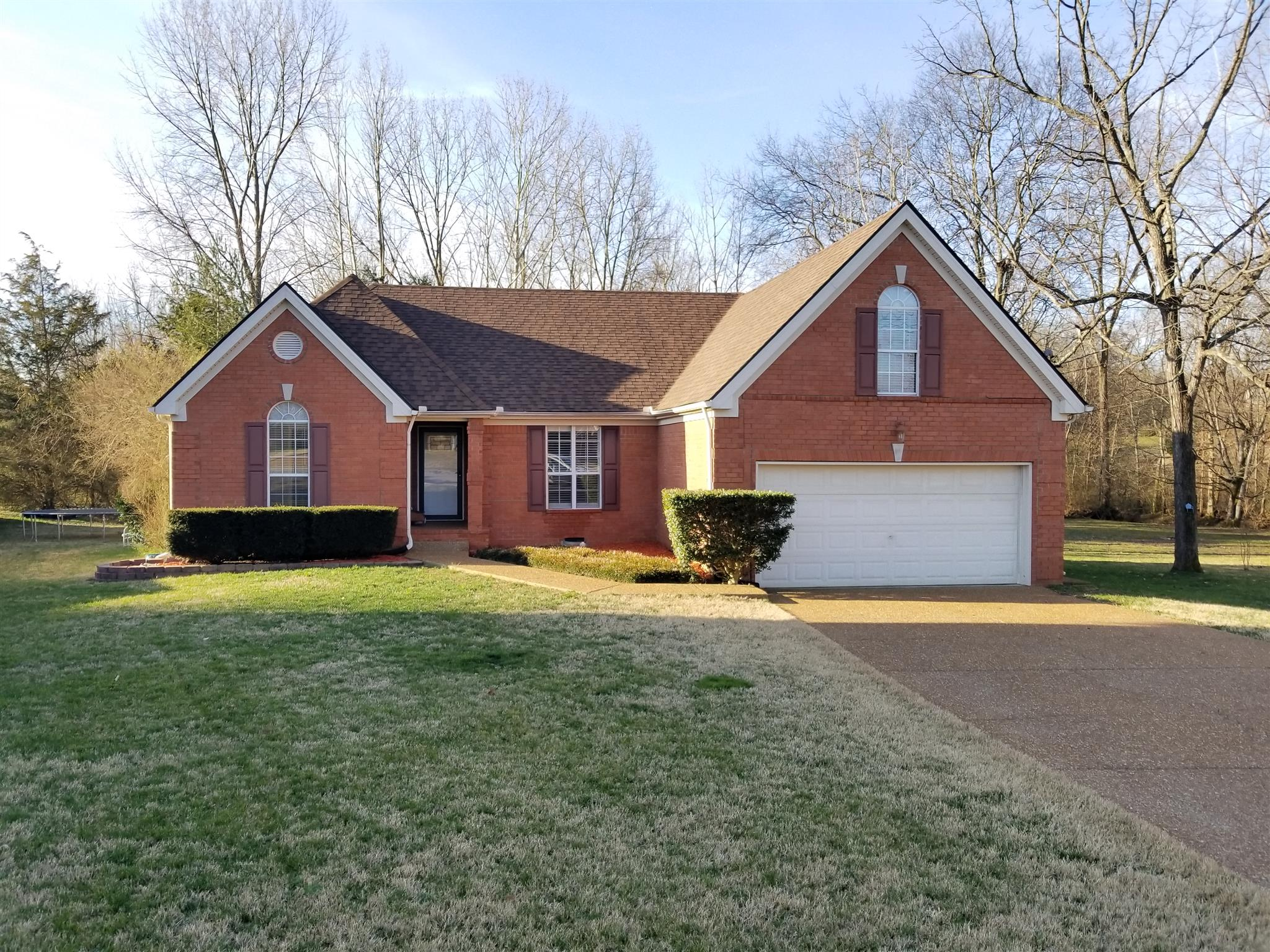 Marvelous Home With Park/Playground Steps Away From Back Yard Located At 1705 Falcon Ct., Mount Juliet, TN., 37122