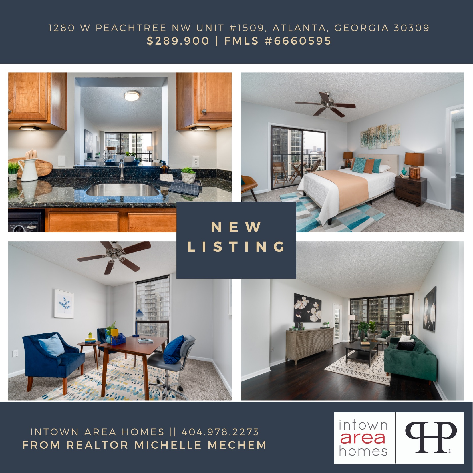 NEW LISTING! 1280 W Peachtree NW Unit #1509, Atlanta, GA 30309