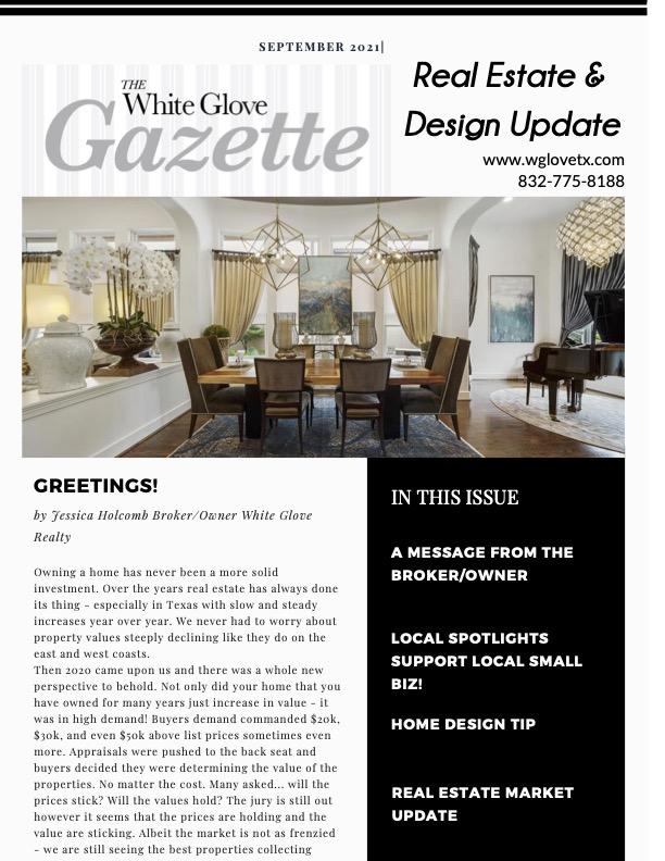 White Glove Gazette September 2021