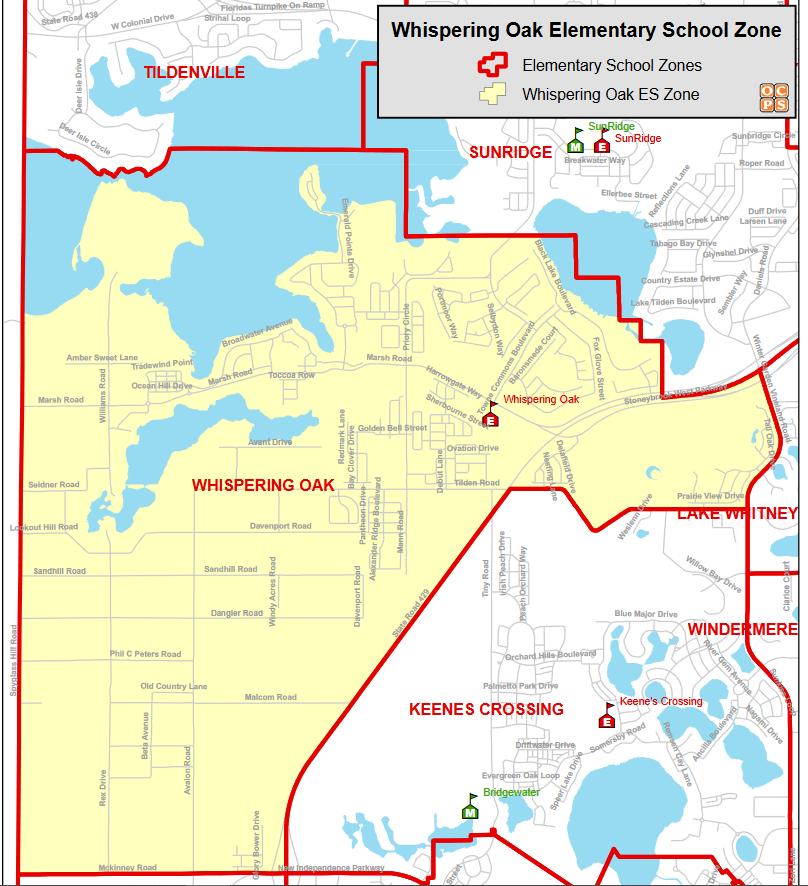 Whispering Oaks Elementary School Zone Map.png