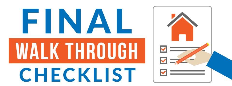 Final Walk Through Checklist