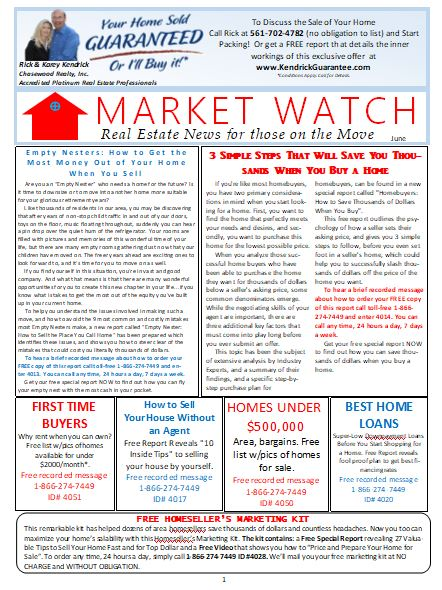 June 2019 Chasewood Realty Market Watch Real Estate Newsletter
